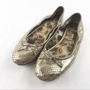 [Sam Edelman] Felicia Gold Slip On Flat's